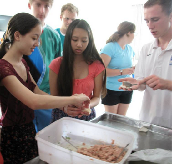 Senior Christine Nguyen learned how to make dumplings during her trip to Hanzghou, China, where she studied the language and learned more about the culture.