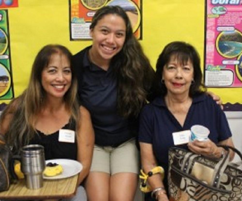 High school grandparents were honored on Nov. 22 with classroom visits, photos and a short paraliturgy during which students donated canned goods.