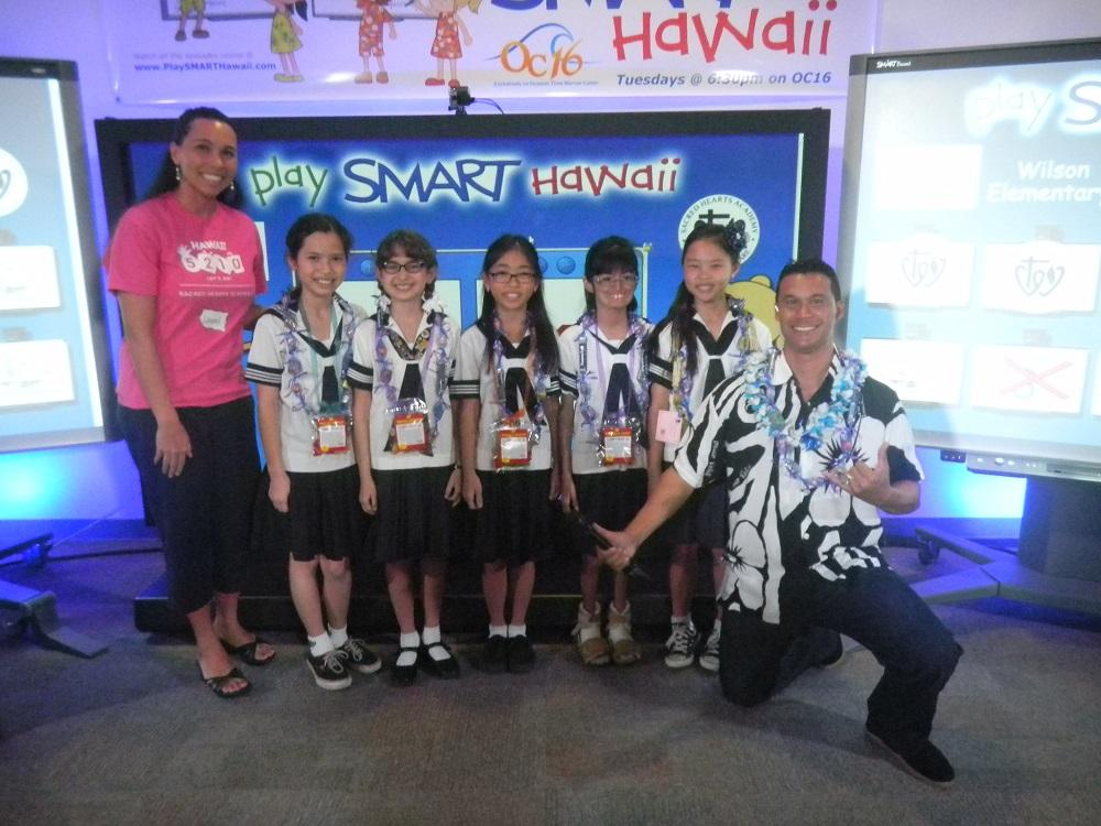 "Academy fifth graders are participating in ""PlaySmart Hawaii,"" a scholastic competition game show, against 14 schools."