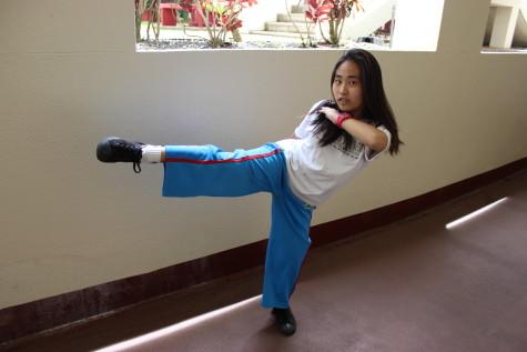 Freshman practices martial art of capoeira
