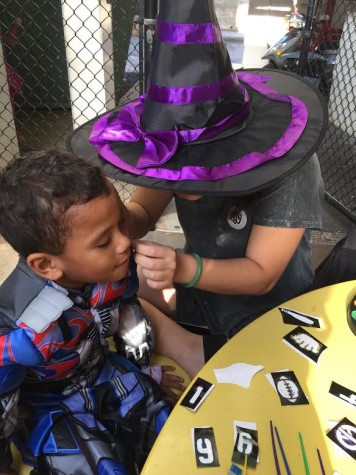 OUR club shares Halloween with housing residents