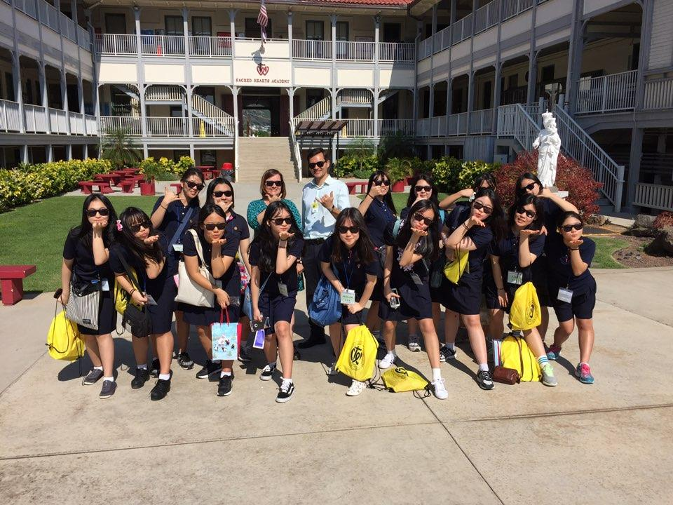 Photo credit: Peter Park  Academy Korean Club welcomed Korean students on their annual visit to Hawaii for the third year.