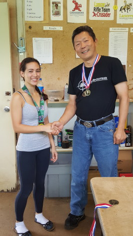 Sophomore Dorothy Sanidad is on her way to competing in the Junior Olympics this summer for the second year. She has again been the top scorer in local high school competition.