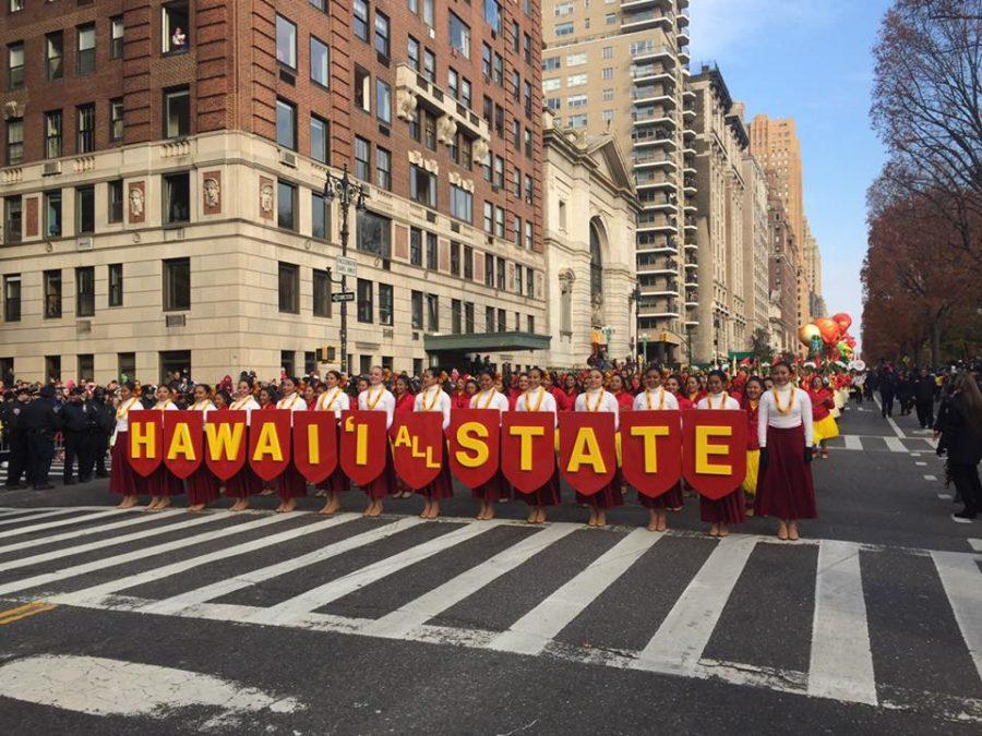 Sacred+Hearts+Academy+students+participated+in+the+annual+Macy%E2%80%99s+Thanksgiving+Day+Parade+in+New+York.+Photo+Courtesy%3A+Hawaii+All+State+Marching+Band.