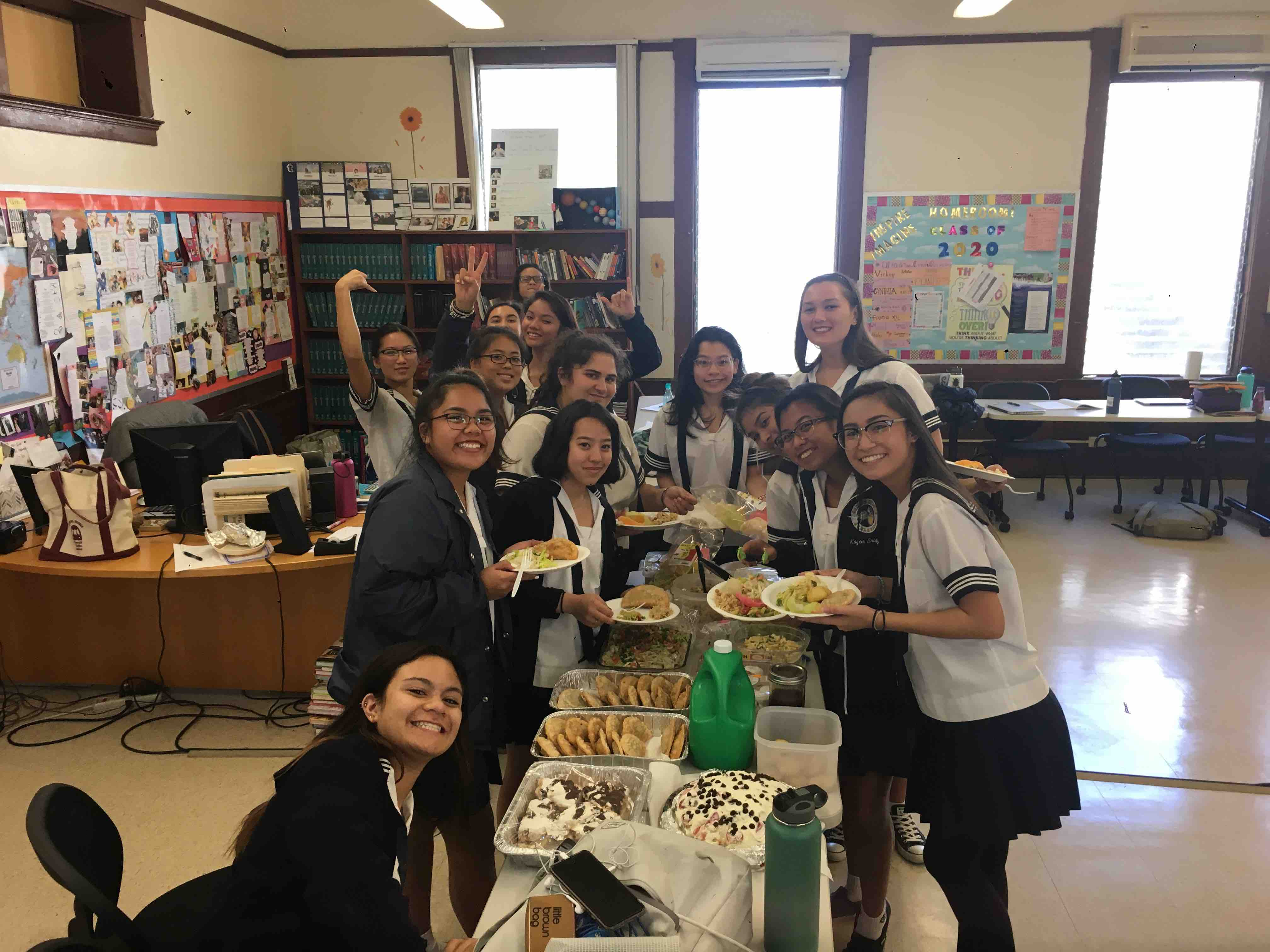 Literature of Food students enjoy a potluck, as a way for food to bring a sense of unity within each other.