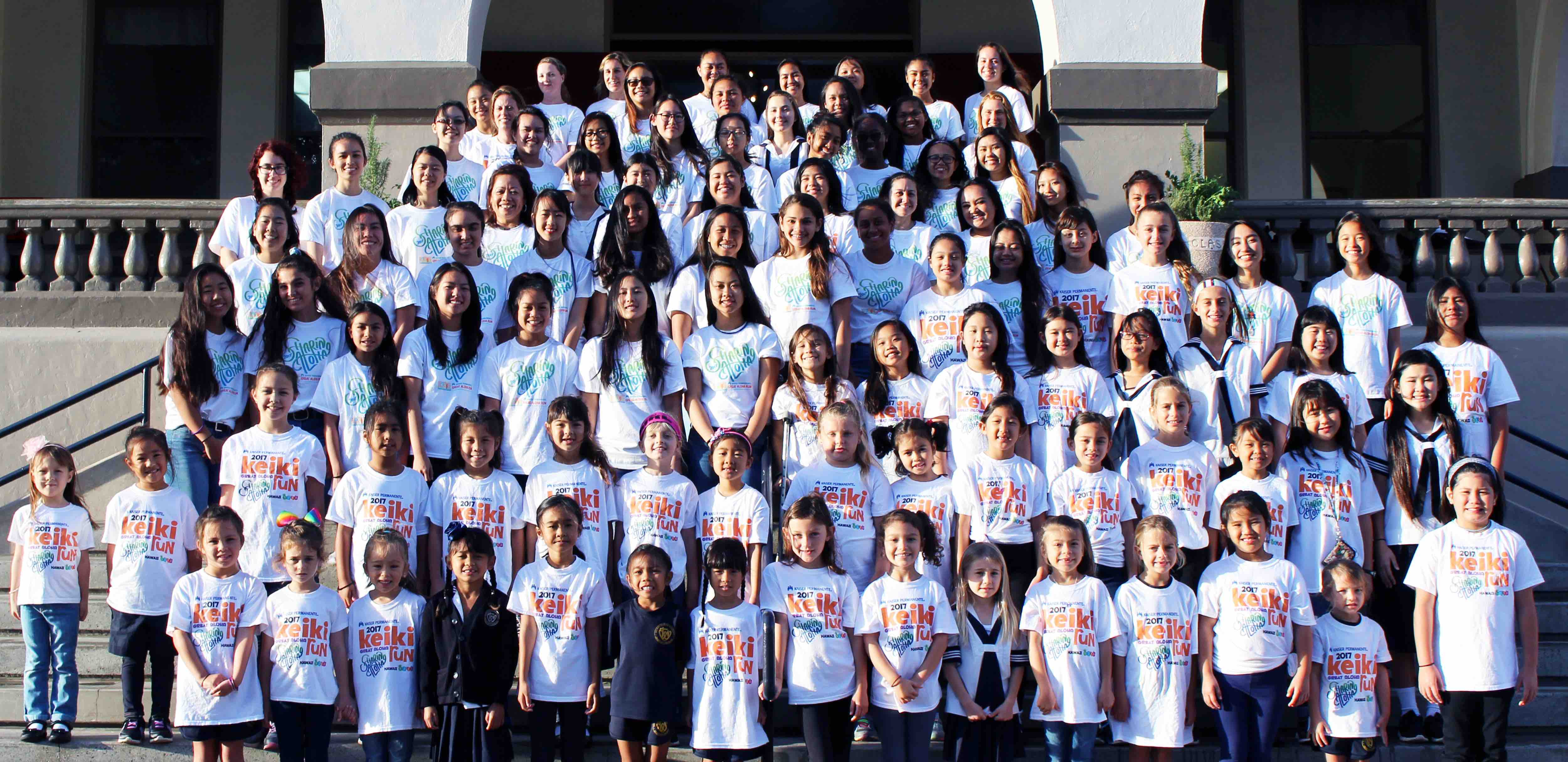 The Great Aloha Run Participants from Sacred Hearts Academy.