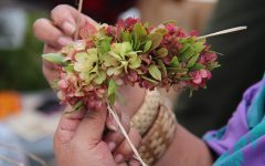 Making Haku Lei For May Day