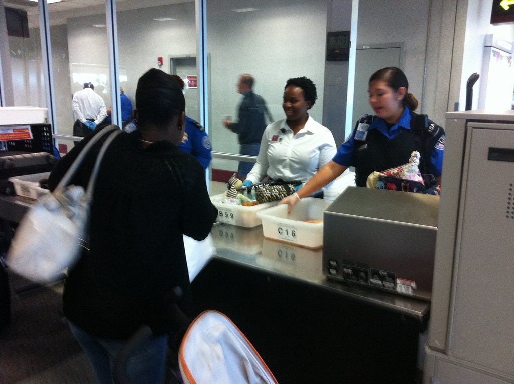 The Transportation Security Administration (TSA) is a familiar sight for anyone who has traveled to or from America. Photo courtesy of Flickr.