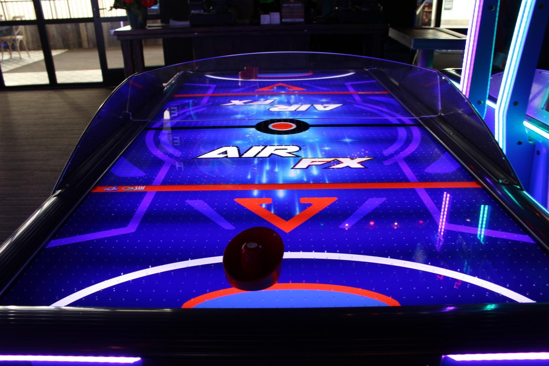 An+air+hockey+game.+%0A