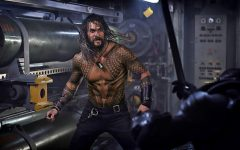 Aquaman surprises fans with his full body of tattoos during his fight scene with Black Manta. Photo courtesy of Flickr.