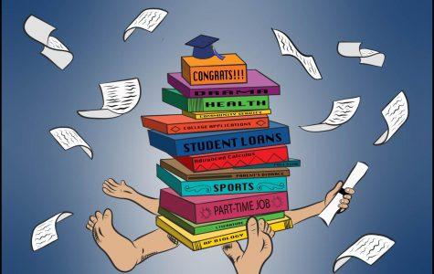 Editorial Cartoon: A heavy high school load