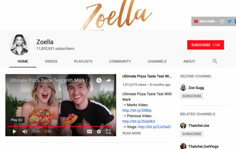 Social media star Zoella's YouTube channel has more than 11 million subscribers. Zoella is known for her beauty product reviews, of which she receives a percentage of revenues when subscribers purchase through her links. Screenshot courtesy of Zoella's YouTube.