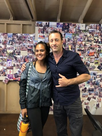 "After working on set for the series ""Hawaii Five-0,"" I got to meet actor Alex O'Loughlin, who plays Steve McGarrett. All photos by Rebecca Meyer."