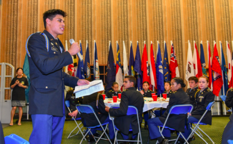 'Dining In' with Punahou JROTC cadets
