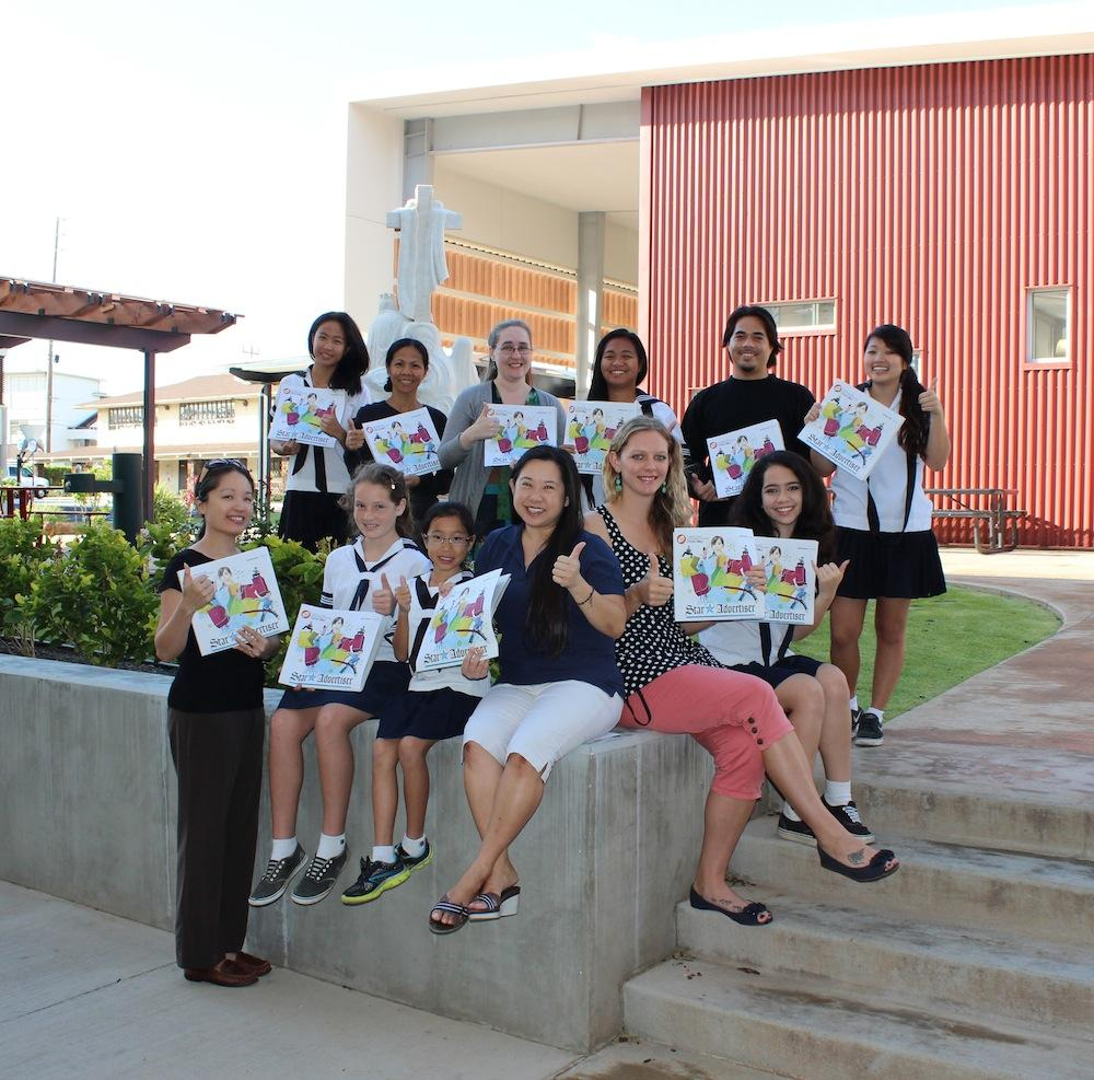Six Academy students took grade-level first in the 2014 PACT contest with the theme,