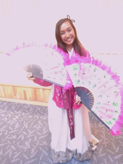 On her summer trip to Korea, sophomore Kailanianna Ablog had the opportunity to wear the traditional hanbok.