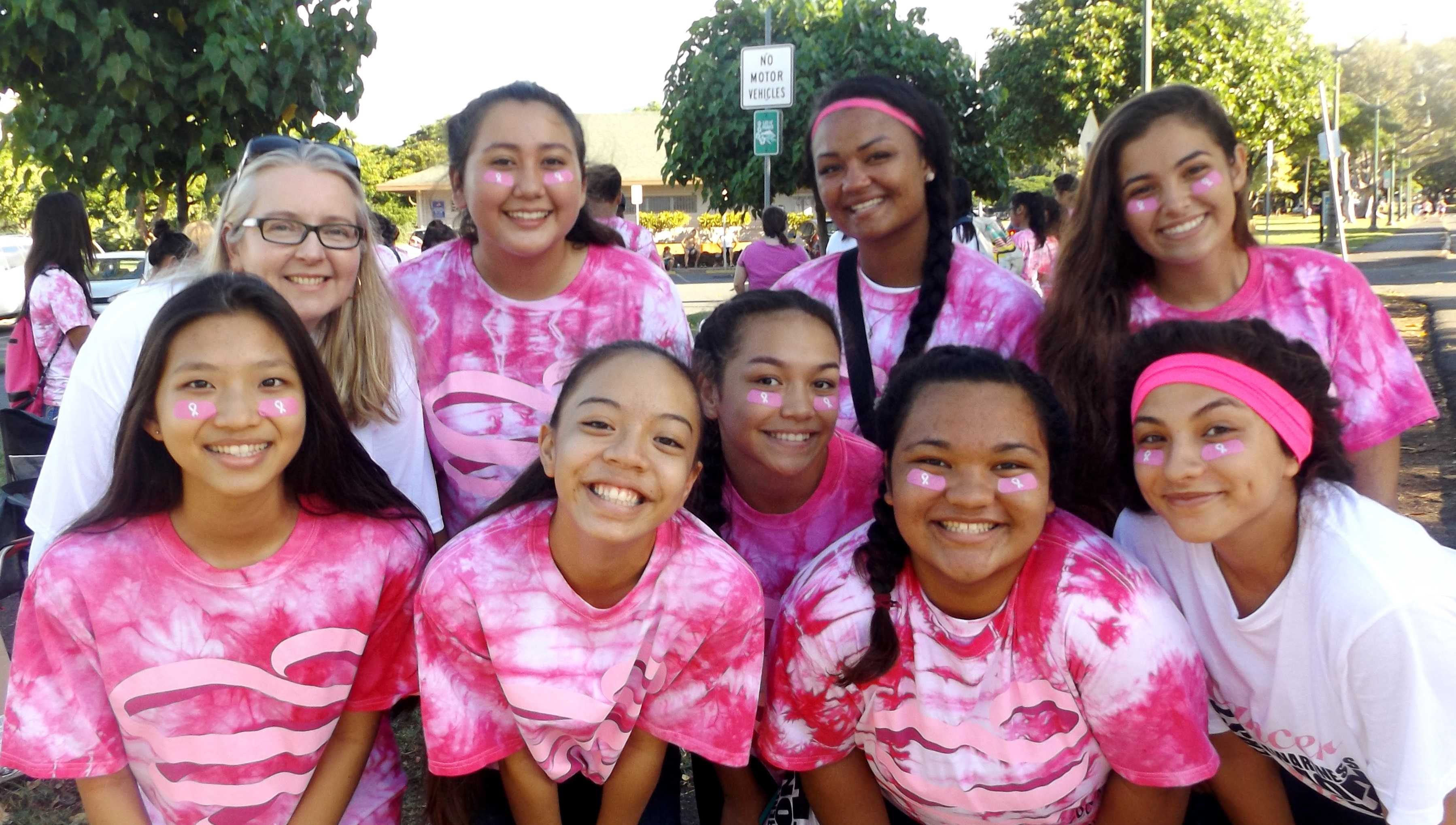Students volunteered at the Susan G. Komen Race for the Cure with Vice-principal Kinga Sanders  Photo courtesy of Janelle Medrano