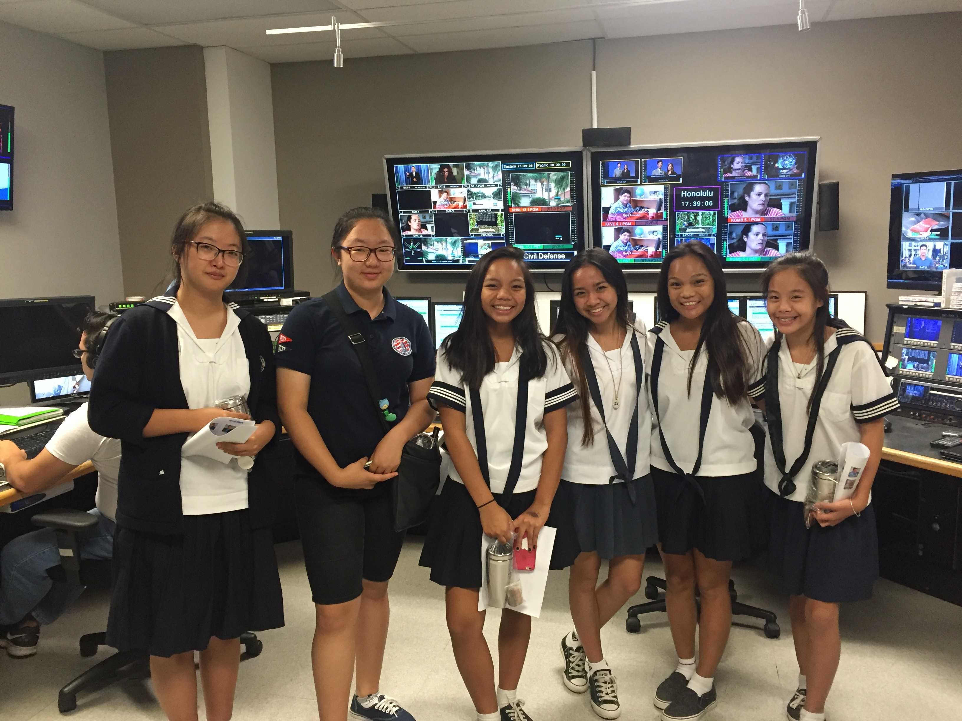 Soroptimist club visited Hawaii News Now for a glimpse at behind-the-scenes broadcasting.