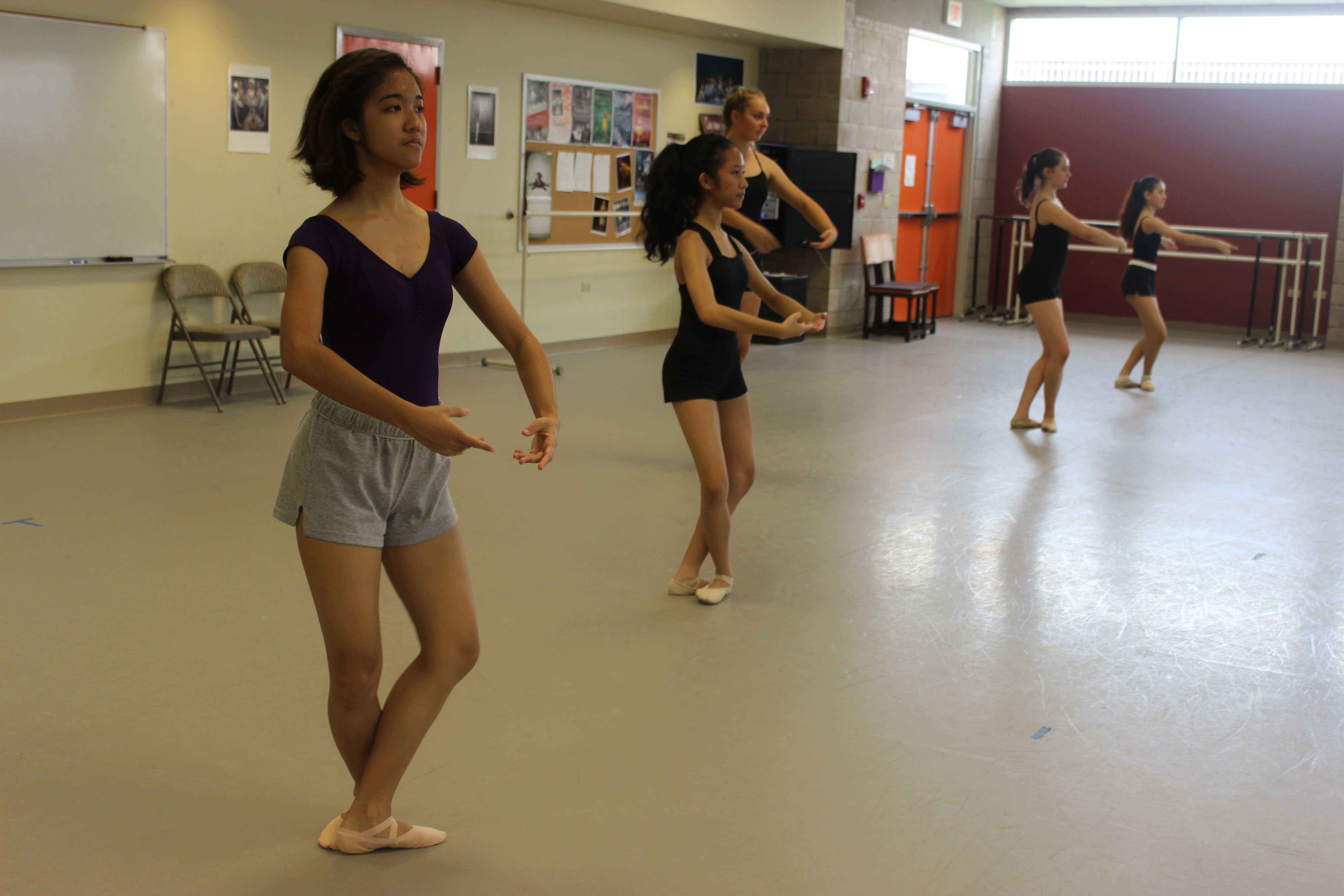 Photo credit: Aileen Jornacion  Performing Arts classes prepared for winter productions, including