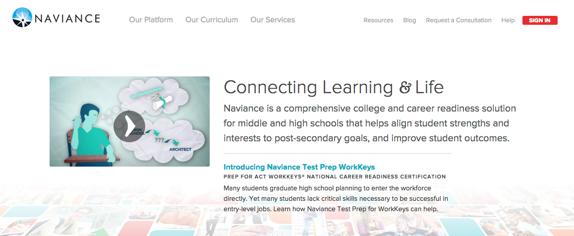 Family Connection, formerly called Naviance, is a useful college and career site for Academy students who can research college information, practice for SAT exams and prepare for AP exams.