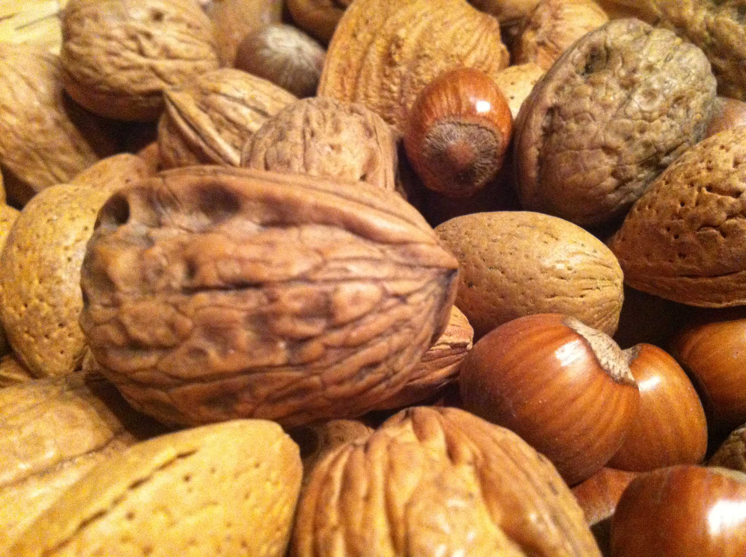 Photo credit: WIkimedia Commons  Nuts have shown to be beneficial to a healthy diet. They should be consumed regularly.