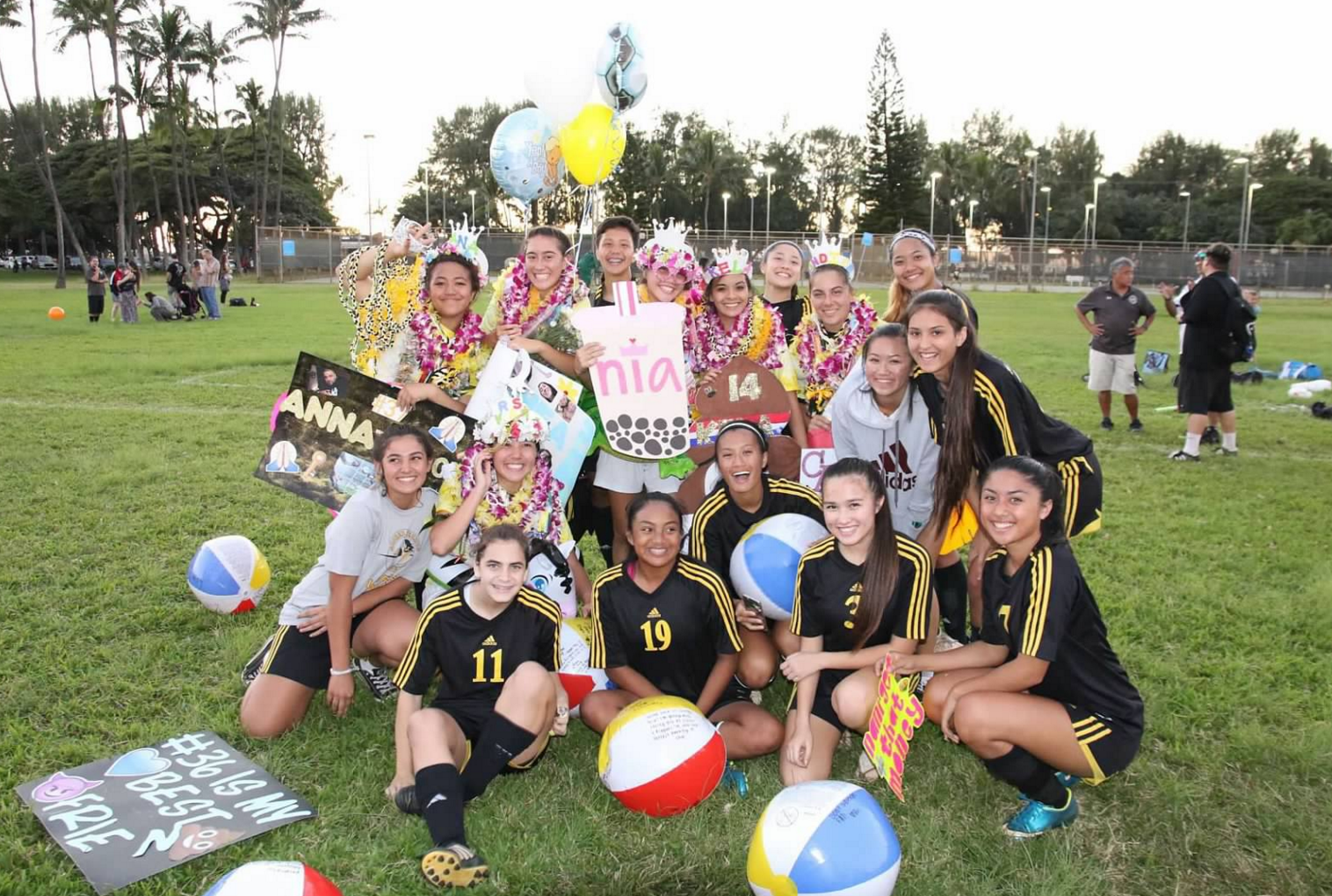 Photo courtesy of Nia Fernandez  Senior night for the varsity soccer team proved memorable as the Academy team defeated St. Francis.
