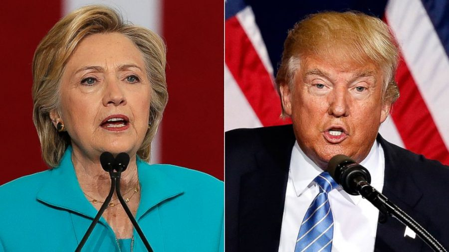 Democratic+nominee+Hillary+Clinton+%28left%29+and+Republican+nominee+Donald+Trump+%28right%29.+Photo+credit%3A+WRCBtv.
