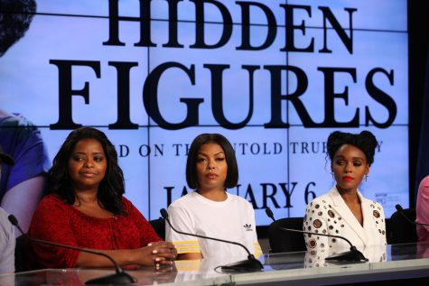 Octavia Spencer (left), Taraji P. Henson (center) and Janelle Monae portray the three female protagonists who help America to pull ahead with the Project Mercury mission. Photo credit: Flickr