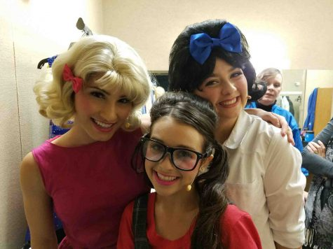 "Korynn Grennert, Lyric Medeiros and Marlo Nettel in their costumes for ""Hairspray."" Photo courtesy of Marlo Nettel."