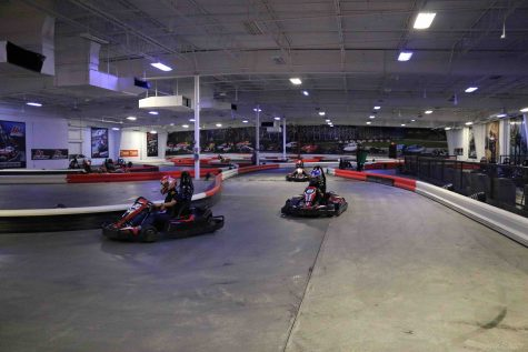 AP Physics students studied concepts in a real-world situation through go-kart racing. Photos courtesy of Elane Namoca.
