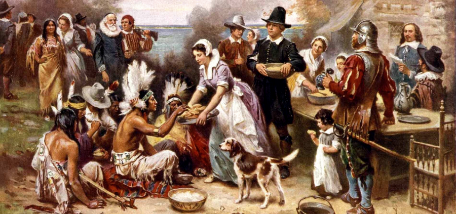 The+first+Thanksgiving+celebrated+between+the+Americans+and+Indians.+Photo+courtesy+of+Calendarlabs.%0A