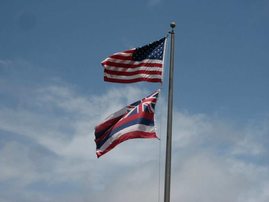 The+law+regarding+how+the+Hawaiian+flag+should+be+flown+underneath+the+National+flag+when+on+a+single+flagpole+has+been+a+debated+topic+for+many+years+and+protesters+are+looking+for+a+change.+Photo+courtesy+of+Flickr.+