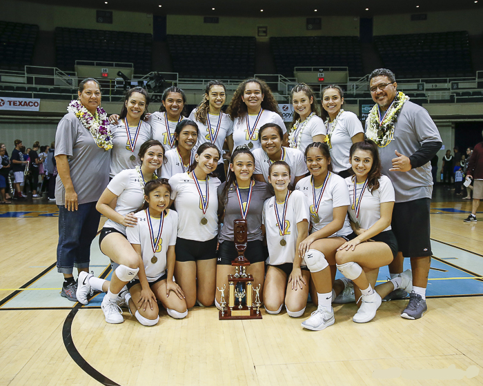 Varsity volleyball win state championship 2018-19