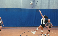Lily Kahawai passing up the first ball for the last point against Le Jardin. The last play of the JV Gold's season.